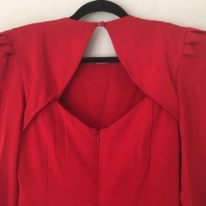 Carolina Herrera Dresses - Carolina Hererra | Vintage Red Formal Ruched Dress